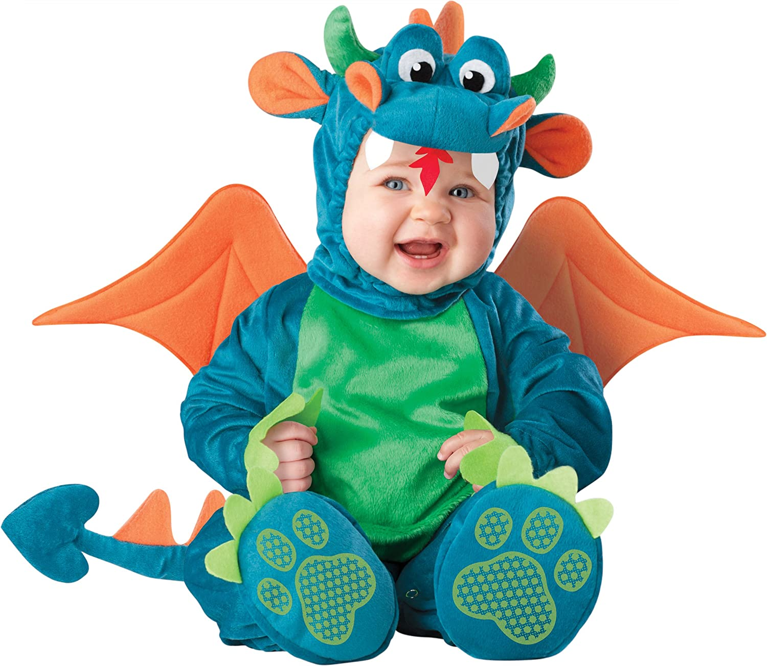 Suesses und qualitatives Baby-Drache Kostuem Gr. 86-92 = Groesse Large Incharacter 6032i