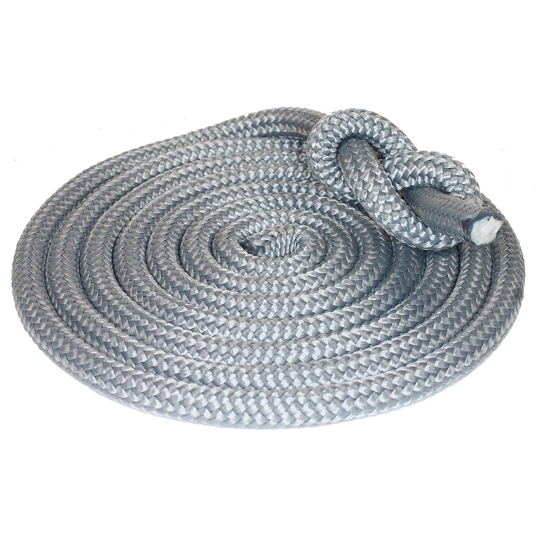 "Seil 10m HTF-Outdoorseil /""ECO-DOCK-PP/"" Ø10mm Silber Farbe Tauwerk"