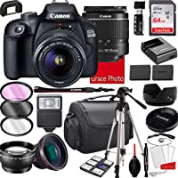 Canon EOS 2000D (Rebel T7) DSLR Camera with 18-55mm f/3.5-5.6 Zoom Lens , 64GB Memory,Case, Tripod and More (28pc Bundle…