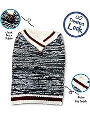 Pet Craft Supply 8975 V-nk Knit Sweater, Medium, Burgundy