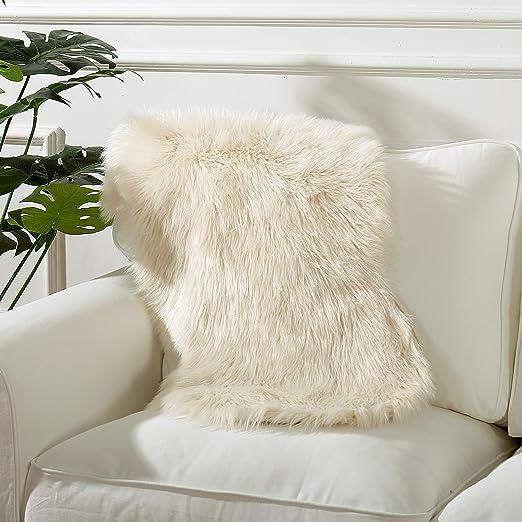 Amazon.com: Reafort - Alfombra de piel de oveja sintética ...