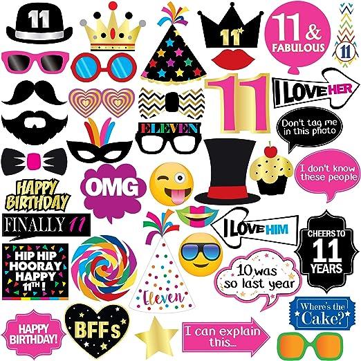 Amazon.com: Accesorios para fiesta de cumpleaños número 11 ...