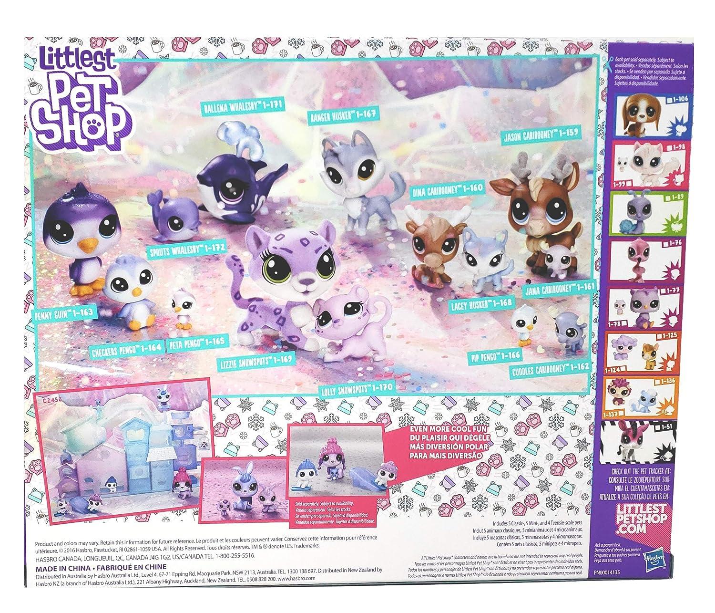 Littleest Pet Shop Chillin' Together Series 1 Exclusive Set 14 Figures (Includes: Cariboo, Snow Leopard, Whale, Husky, and Penguin)