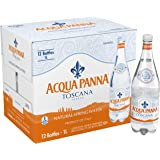 ACQUA PANNA Natural Spring Water, 33.8-ounce plastic bottles (Pack of 12)