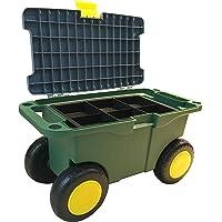 Upp Tuinzitbox met opbergvak, ook ideaal als outdoor-gereedschapswagen, de rolwagen is de rugvriendelijke tuinhulp bij…