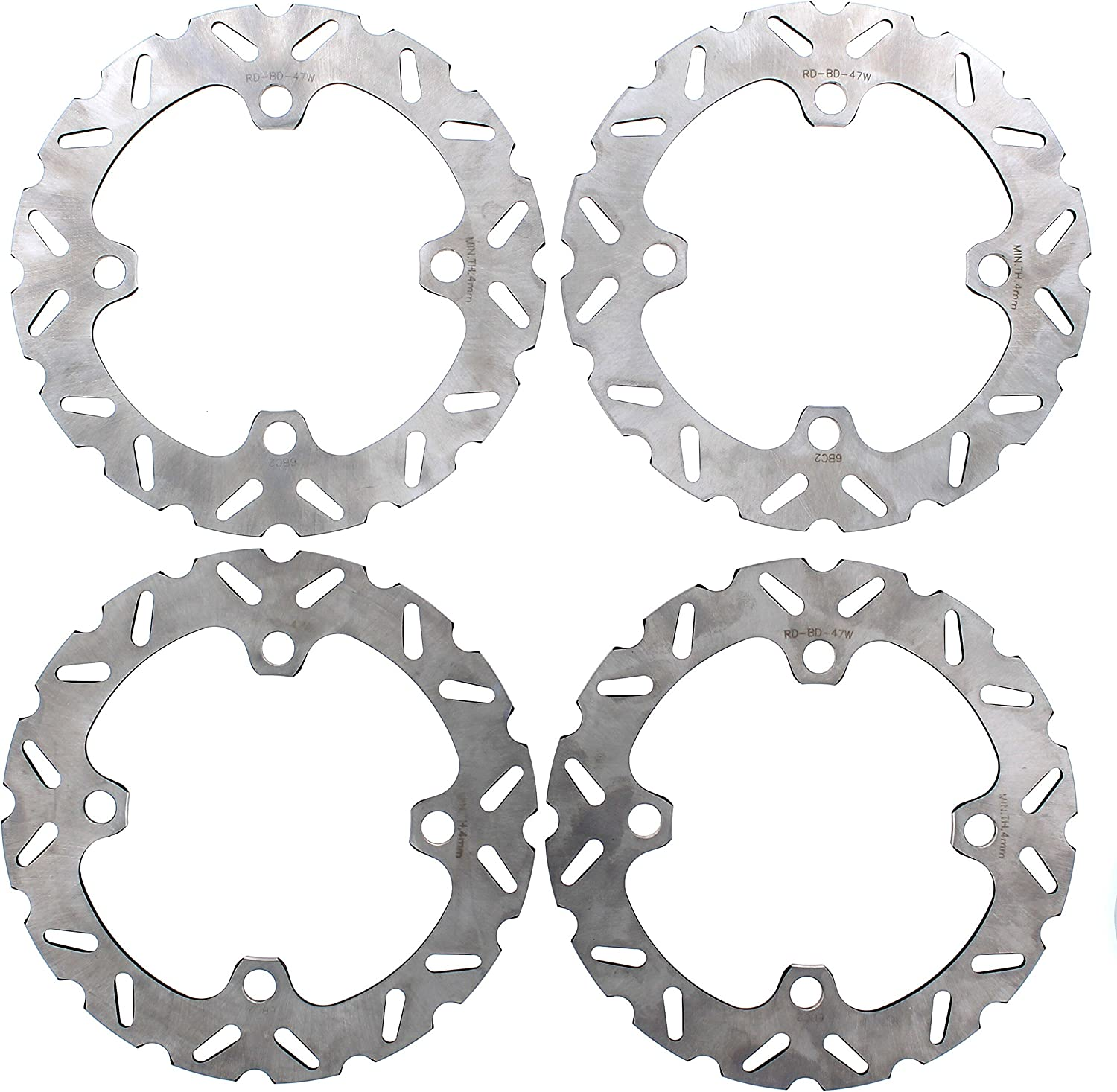 Brake Rotors for Polaris 1000 RZR XP 4 EPS 2014-2017 Front /& Rear by Race-Driven
