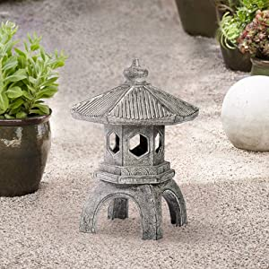 "Universal Lighting and Decor Pagoda 15 1/2"" High Old Stone Indoor-Outdoor Statue"