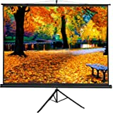 """SUPER DEAL Ultra Portable Collapsible Projection Screen 100"""" Projector 4:3 HD 90"""" x 56"""" Home Theater Screen W/Foldable Adjustable Stand Tripod for Home and Outdoor Use"""