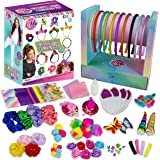 Create Your Own Headband Hair Fashion DIY Arts Craft Kit for Girls - 60+ Craft Supplies Display Drawer Storage Stand - Makes