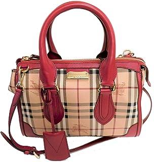 5d13eee83ad0 Burberry Women s Charcoal Nylon Nova Check Packable Purse  Handbags ...