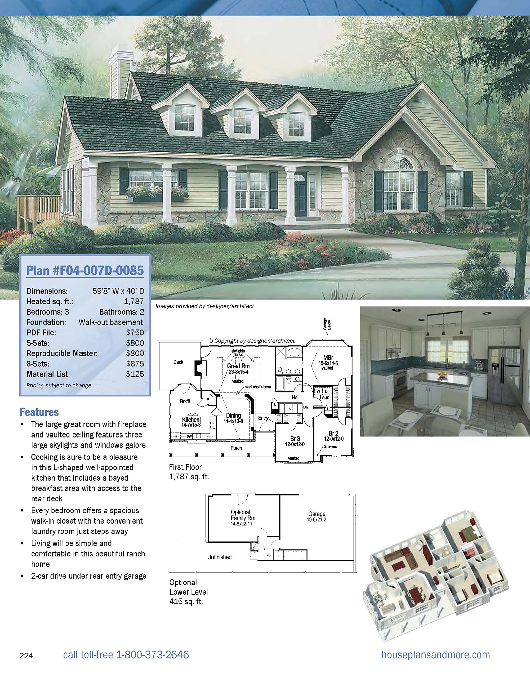 Best Selling 1 Story Home Plans, Updated 4th Edition: Over 360 Dream Home  Plans In Full Color (Creative Homeowner) Craftsman, Country, Contemporary,  ...