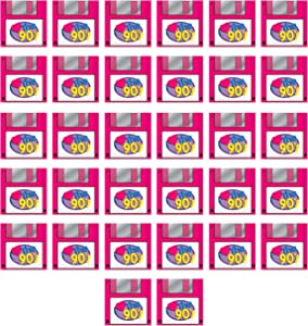 Beistle 53510 90's Floppy Disk Luncheon Napkins, 32 Piece, 2-Ply, Multicolored