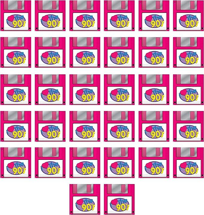 Beistle 53510 Napkins 90s Floppy Disk Pack Of 32 2 Ply Multi Coloured Küche Haushalt