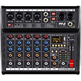 Professional Bluetooth DJ Audio Mixer - 6 - Channel DJ Controller Sound Mixer w/ DSP 16 Preset Effects, USB Interface, 4 XLR