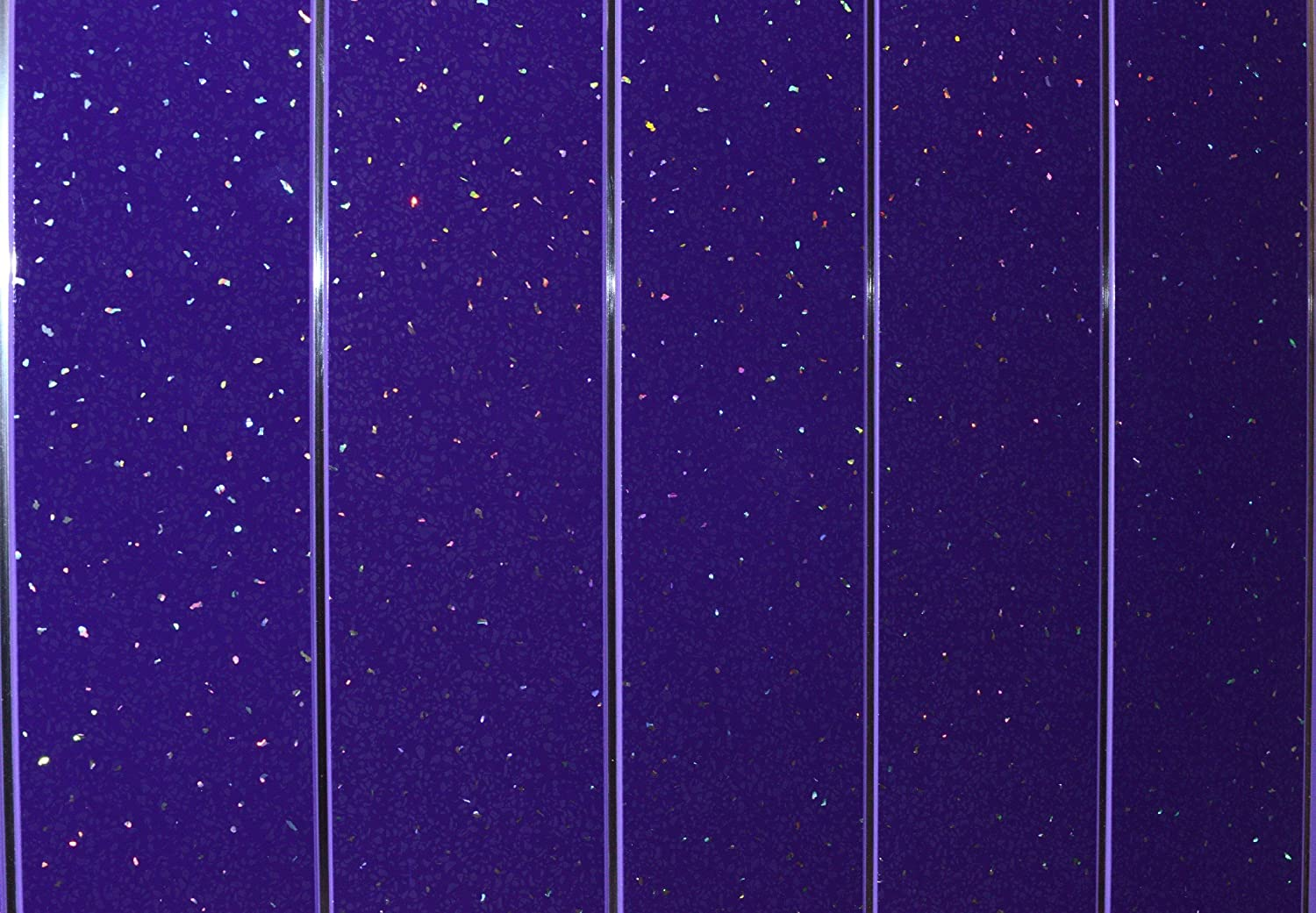 Claddtech Bathroom Wall Panels splashbacks Purple Sparkle with Chrome Perfect for Wet Walls in Shower, PVC Plastic 100% Waterproof by (15 Panels splashbacks)