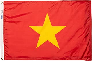 product image for Annin Flagmakers Model 199230 Vietnam Flag Nylon SolarGuard NYL-Glo, 2x3 ft, 100% Made in USA to Official United Nations Design Specifications
