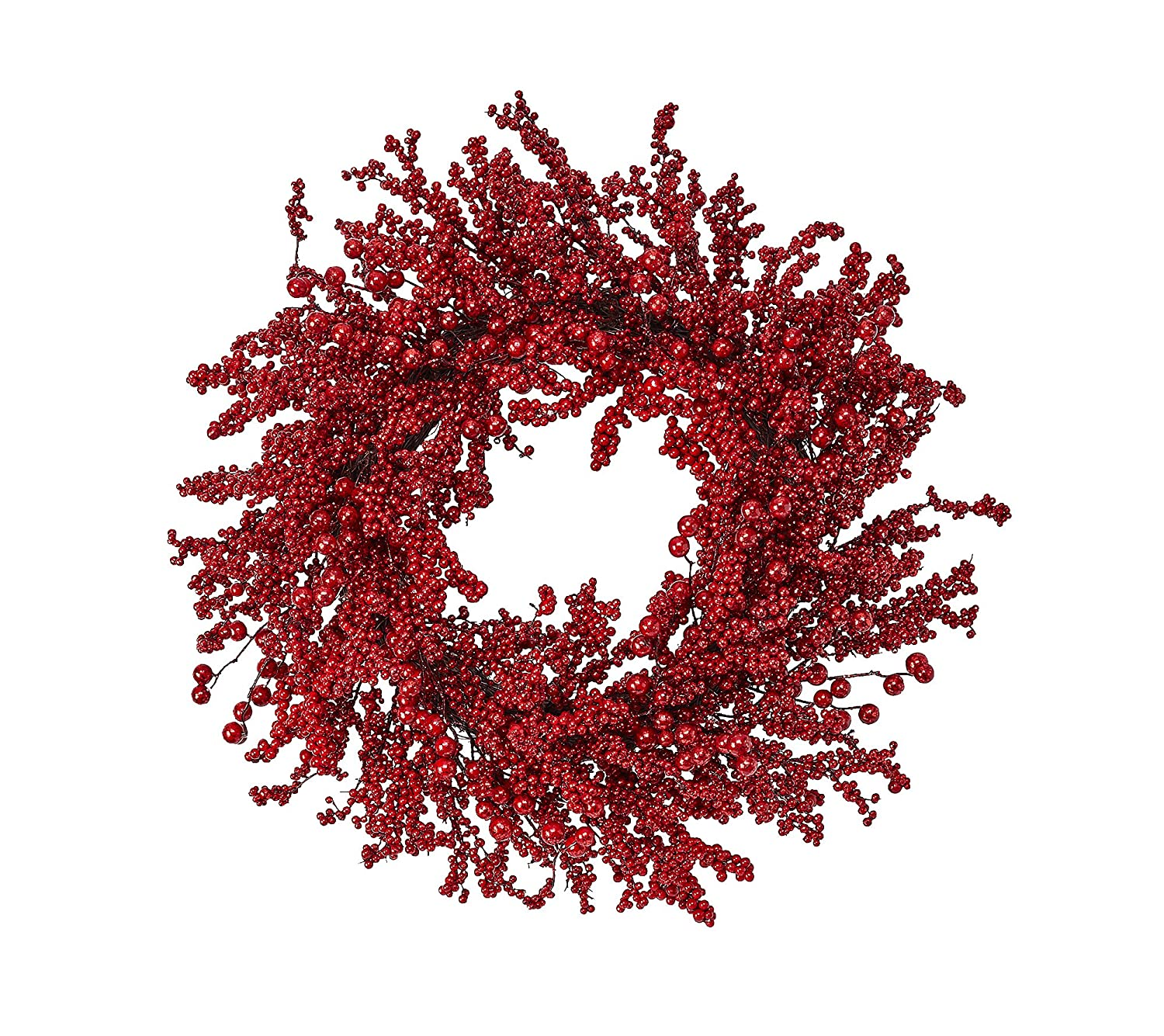 Rustic Lodge Red Christmas Berry Wreath