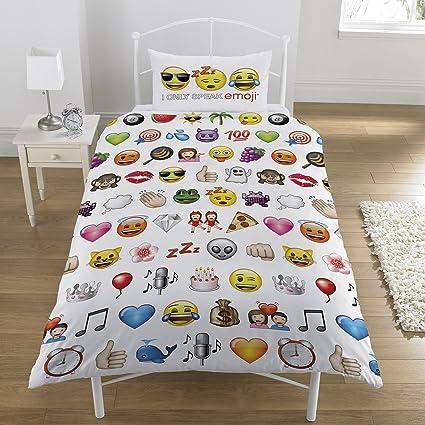 Copripiumino Singolo Ragazza.Emoji Emojis Multi Set Copripiumino Singolo Amazon It Casa E Cucina