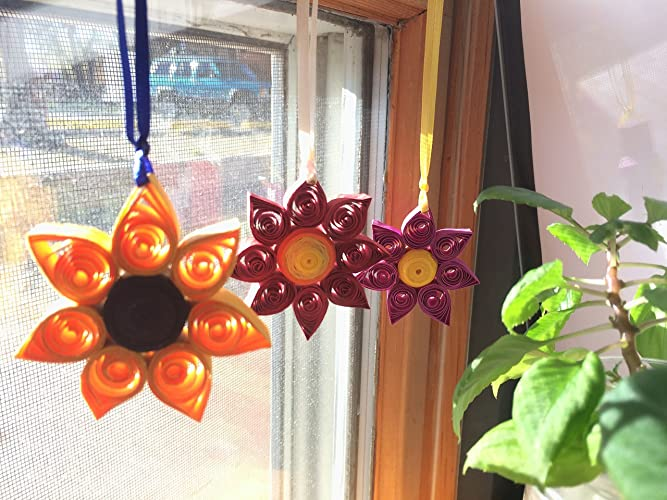 Amazon Com Handmade Paper Quilled Flower Wall Window Home