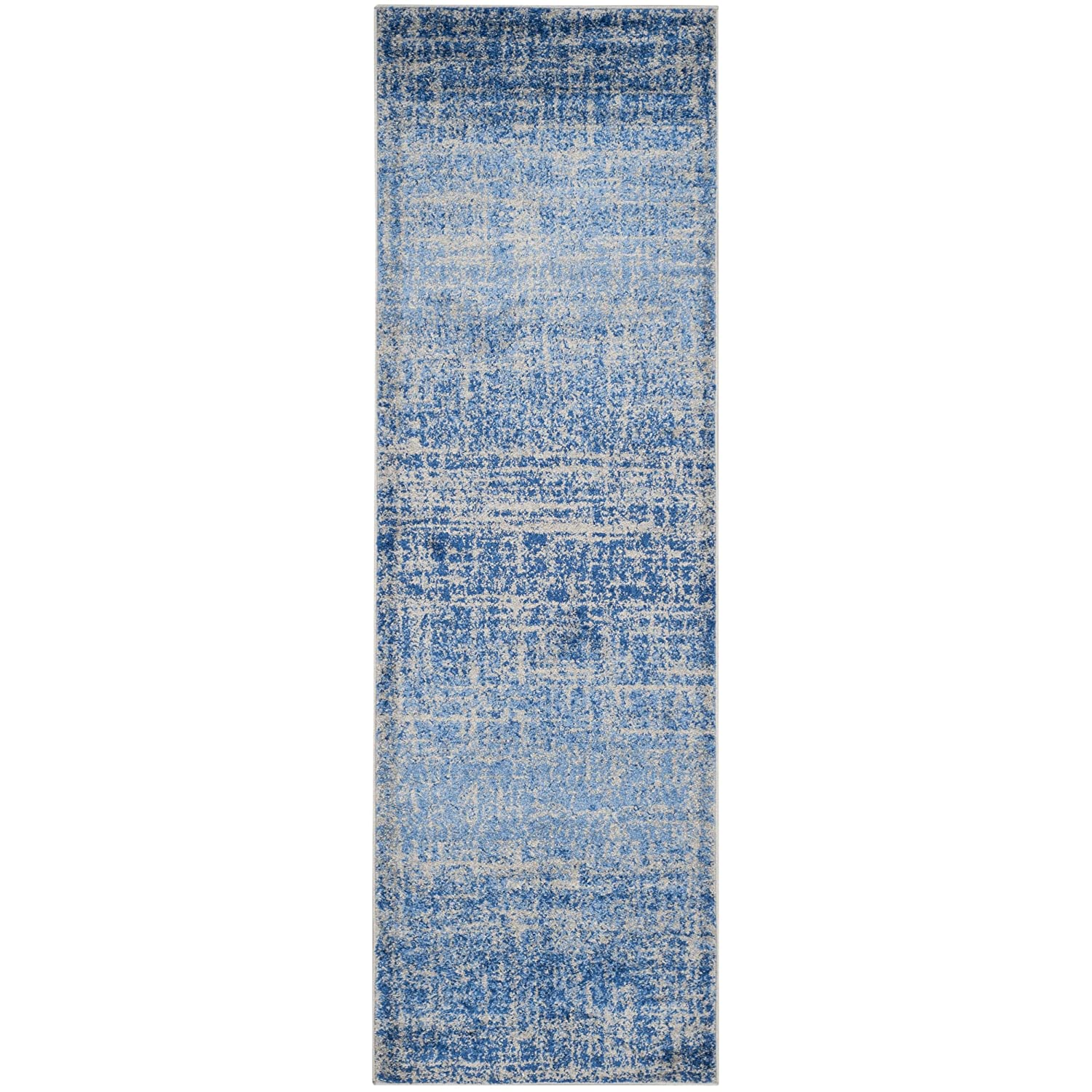 26 x 4 Safavieh Adirondack Collection ADR116D Blue and Silver Modern Abstract Area Rug