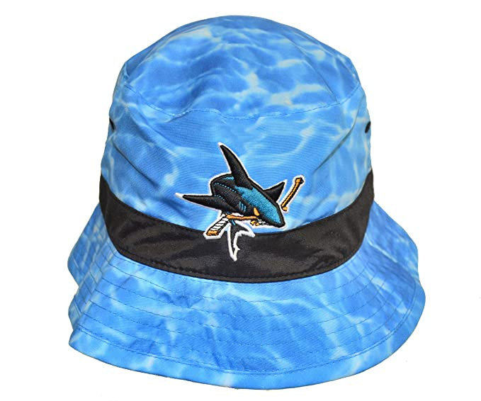 67b5a5784ff Mitchell   Ness Mens San Jose Sharks Surf Camo Bucket Hat - NHL ...