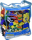 Set of 150 Piece Building Block Set with Wheeled Train Pieces and Carry Bag by Dimple