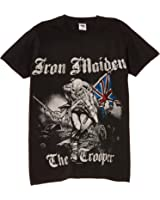 Rock Off Men's Iron Maiden Sketched Trooper Regular Fit Round Collar Short Sleeve T-Shirt