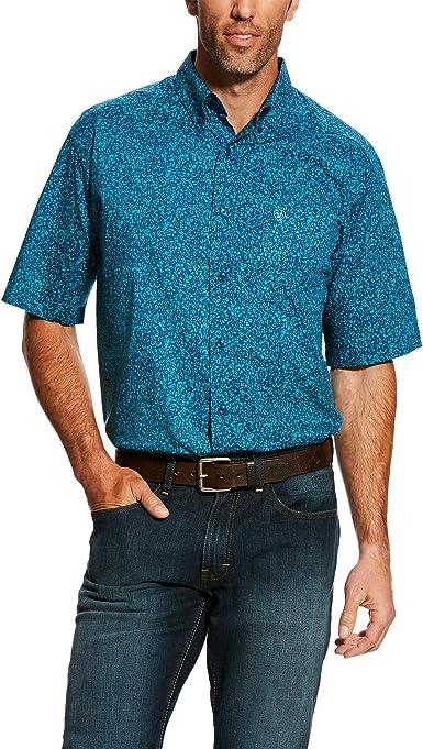 ARIAT Hardell SS Camisa Estampada elástica para Hombre: Amazon.es: Ropa y accesorios