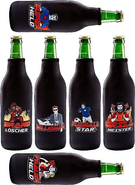 Bier Flaschenkühler aus Neopren Set//6Stück