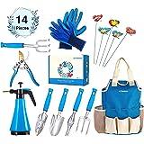 Kit4Pros Premium Garden Tools Set | Gardening Gifts for Women & Men | Heavy Duty Kit w/Ergonomic Handle | Weeder | Cultivator | Trowel | Storage Tote Bag Organizer | Pruning Shears & Gardener Gloves