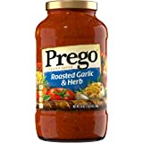 Prego Italian Pasta Sauce, Roasted Garlic & Herb, 24 Ounce (Packaging May Vary)