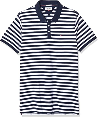 Tommy Hilfiger Basic Stripe Polo S/S 13, Negro (Black Iris), XX ...