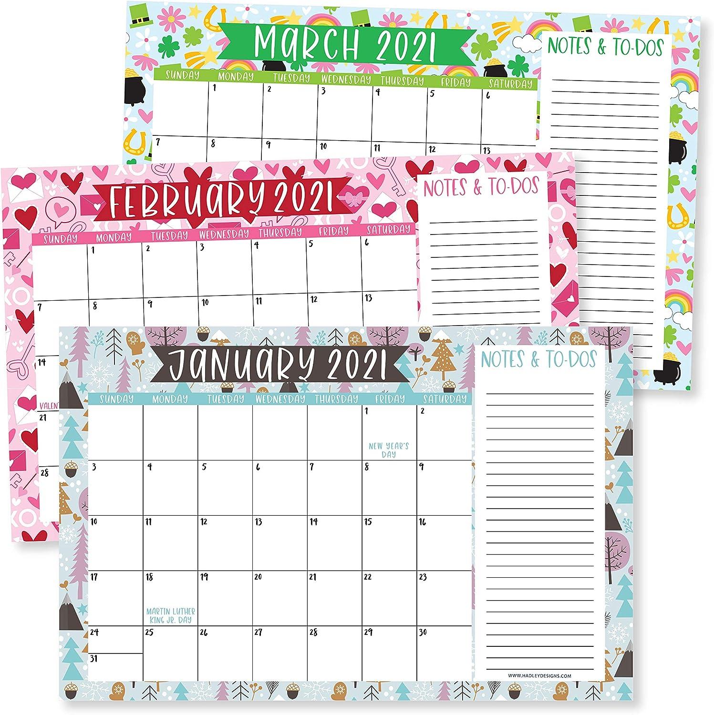 Family Business Office 11x17 2021-2022 Doodle Desk Calendar Seasonal Notes Section Teacher 18 Month Academic Desktop Calendar /& Fridge Planning Blotter Pad Large Monthly Wall Planner with Seasons