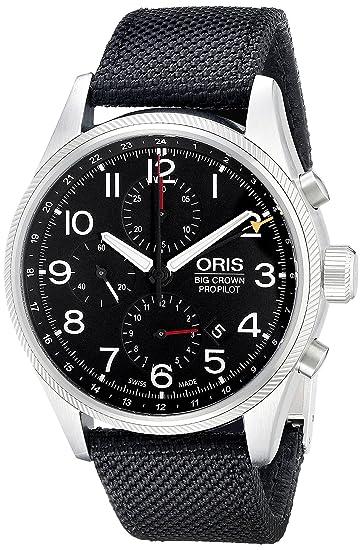 Oris 67776994164LS1 - Reloj de pulsera hombre, tela, color Negro