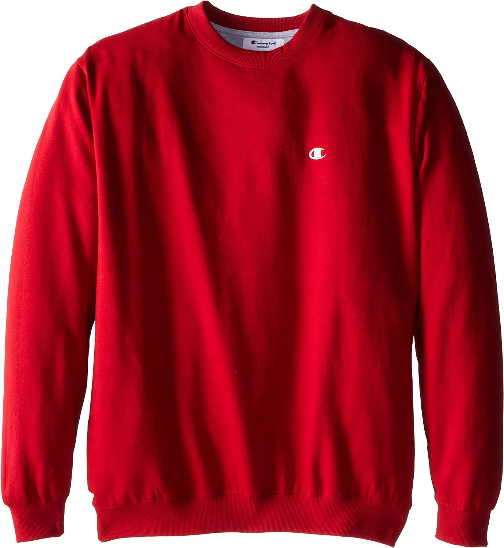 Champion Mens Big-Tall Fleece Crew Sweatshirt