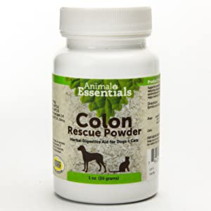 Animal Essentials Colon Rescue Powder Herbal Digestive Aid for Dogs & Cats, 1 oz - Made in USA GI Support, Phytomucil Blend Supports Normal Bowel Function