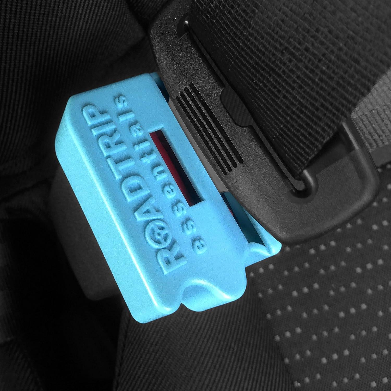 Protection de boucle de ceinture de sécurité avec accessoires pour clé de déverrouillage -Protégez les enfants et les empêcher de détacher la ceinture-Parfait pour sécuriser un siège bébé de voiture-Matériau solide et durable pour un produit leader -