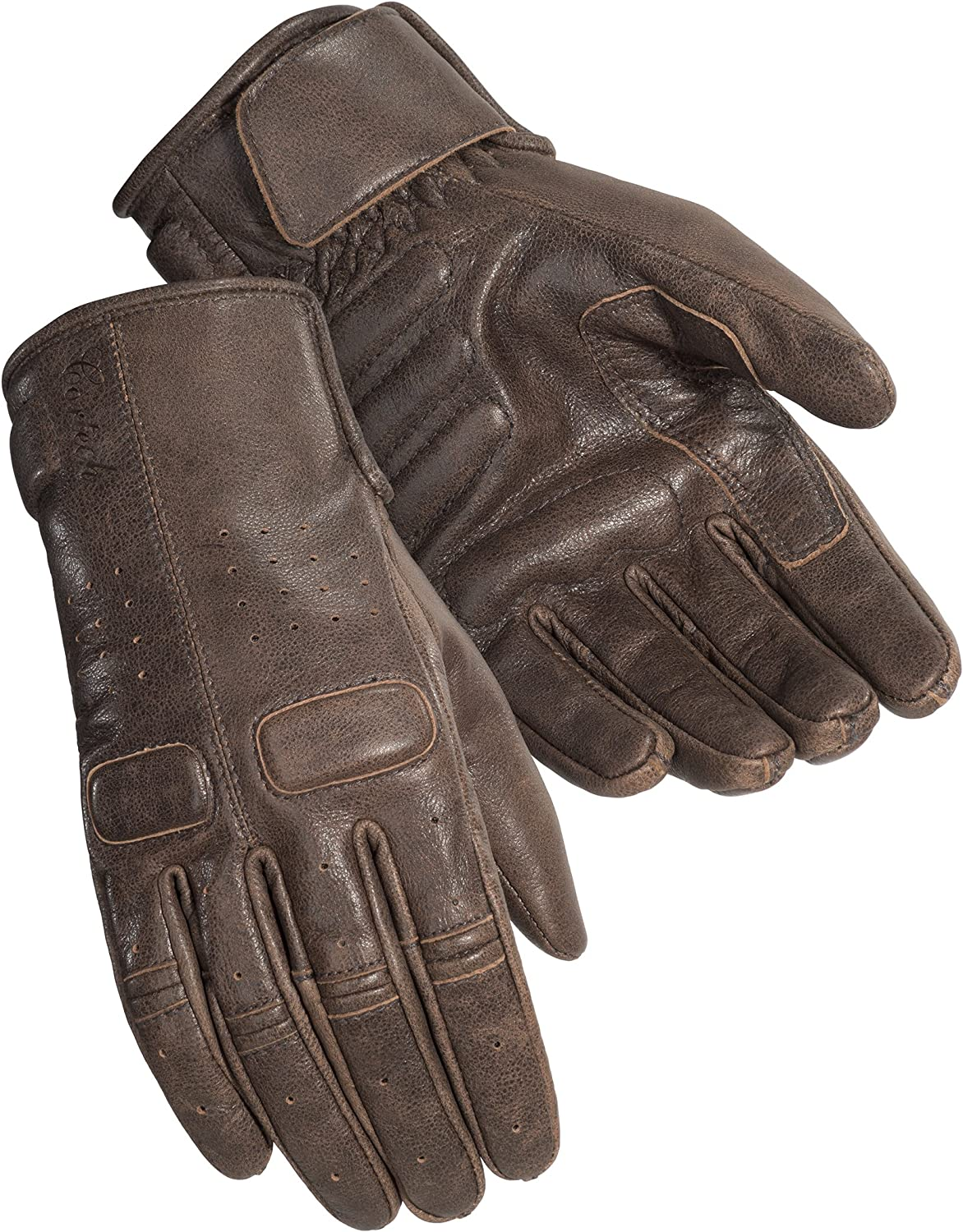 Cortech Womens Café Brown Heckler Leather Motorcycle Gloves