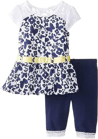 Little Lass Baby Girls' 2Pc Capri Set Printed Woven