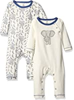 Touched by Nature Baby Organic Cotton Union Suit, 2 Pack