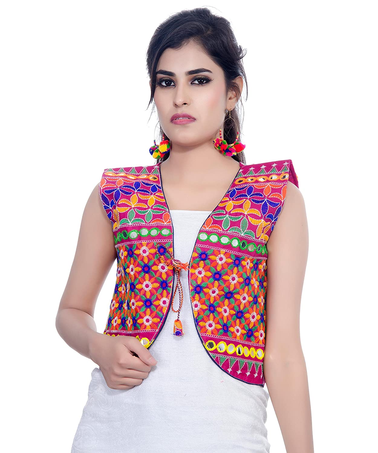 71511db0085 Banjara India Kutchi Short Jacket (Bullet)
