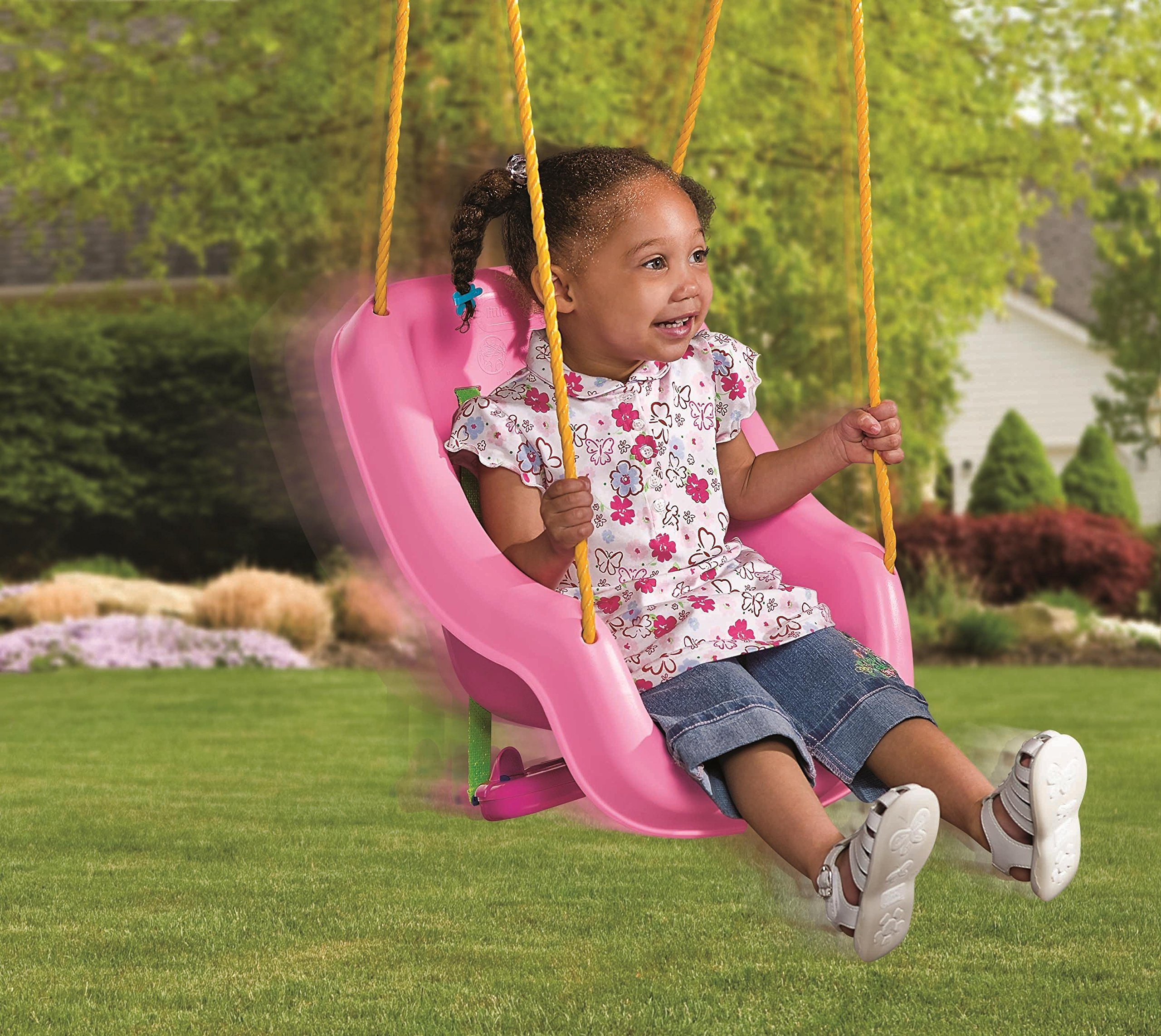Little Tikes 2-in-1 Snug 'n Secure Swing, Pink by Little Tikes