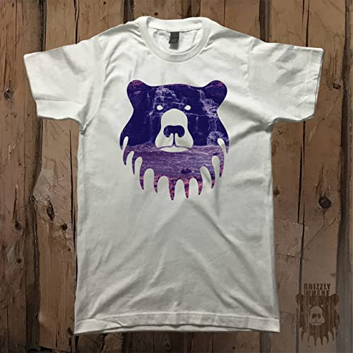 c836351aa Amazon.com: Waterfall Grizzly Bear Logo Graphic Tee Unisex T-Shirt by  Grizzly Where - 1072: Handmade