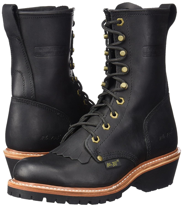 AdTec Mens 1964 10 Fireman Logger Black Work Boot