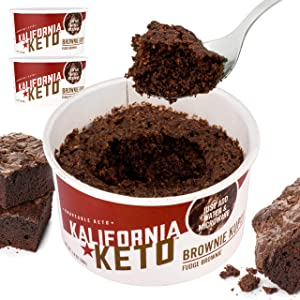 Kalifornia Keto Brownie Cup – Low Carb, Keto-friendly, and Sugar Free Keto Snacks – Soy Free and Gluten Free… (Fudge Brownie Sample Pack (Pack of 3))