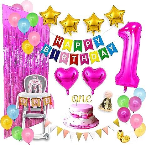 fiesta de cumpleaños en confeti rosa decoración de mesa Decoración 6 trozo chicas XL 18