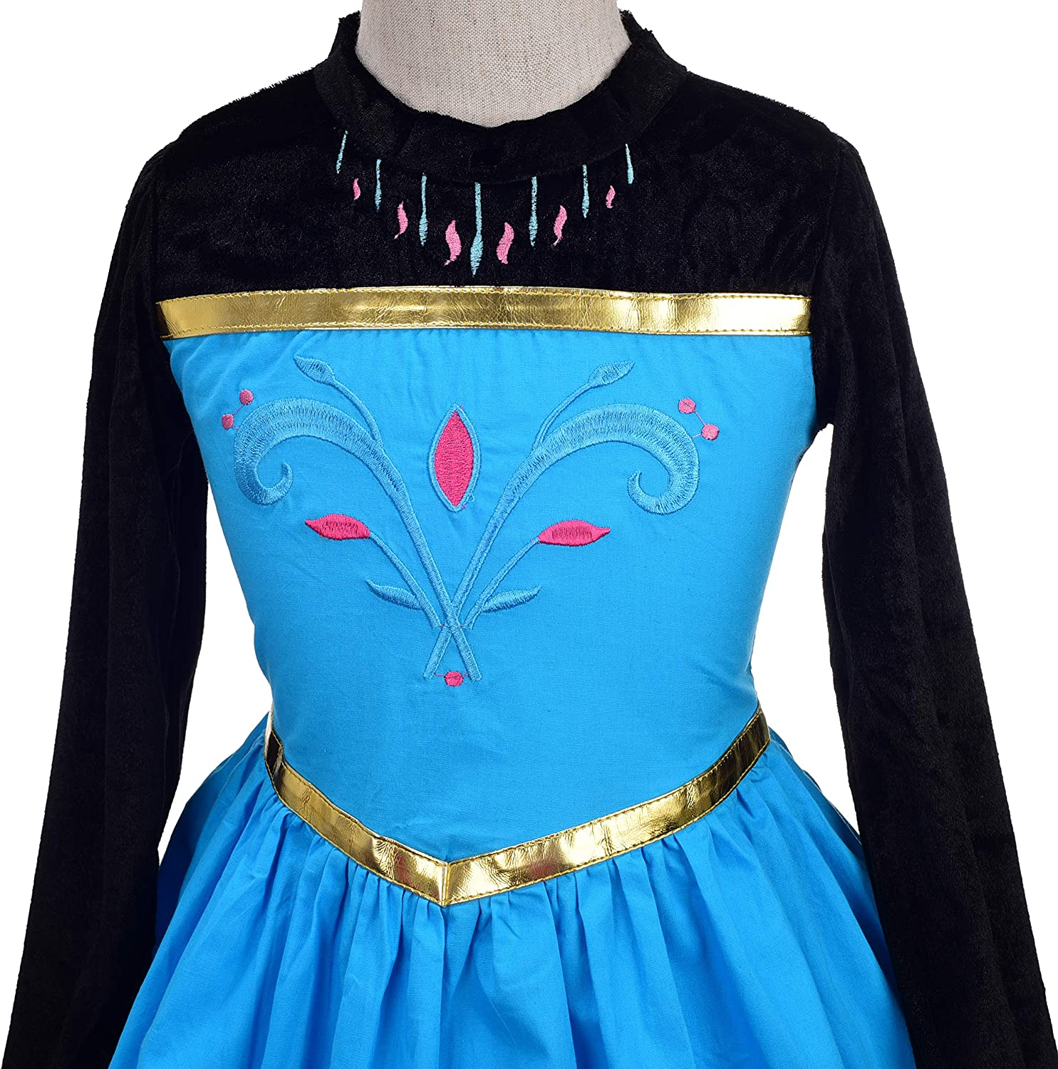 Lito Angels Girls Princess Snow Ice Queen Sister Costumes Halloween Birthday Fancy Party Dress Up with Accessories