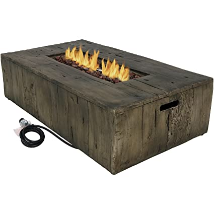 Peachy Amazon Com Sunnydaze Rustic Propane Gas Fire Pit Table With Unemploymentrelief Wooden Chair Designs For Living Room Unemploymentrelieforg