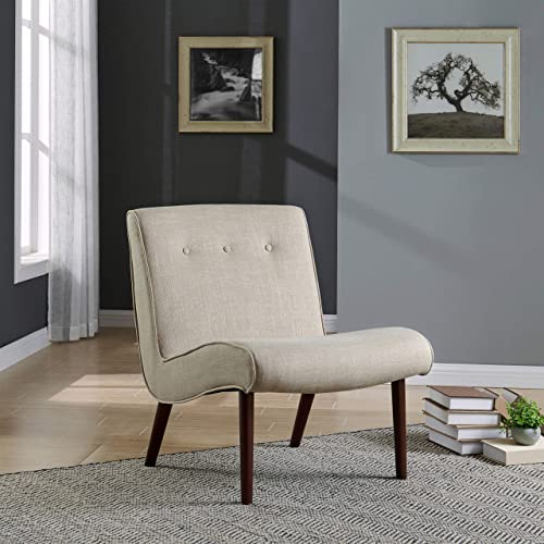New Pacific Direct Alexis Fabric Slipper Accent Chair