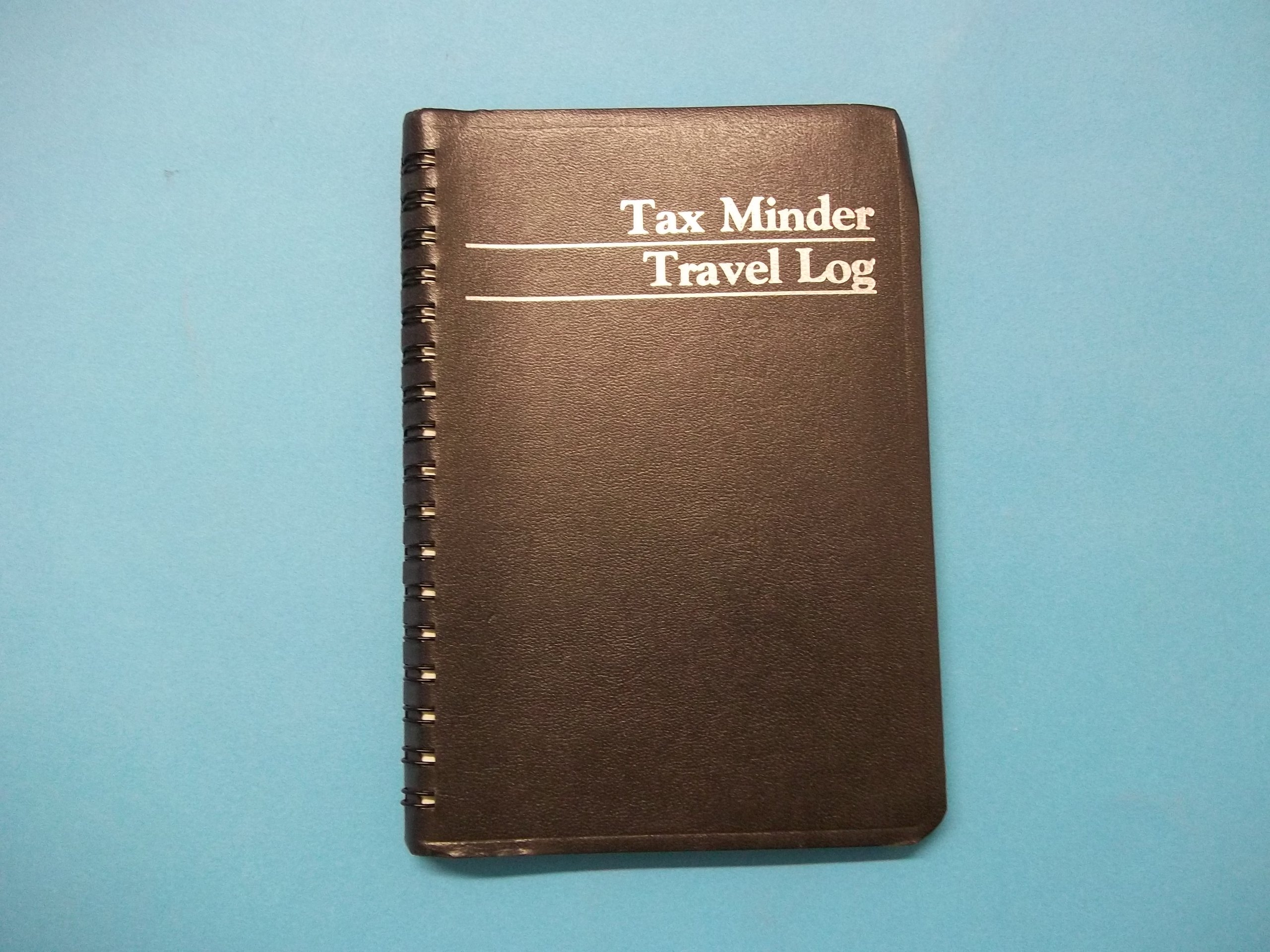 The Guilford Line G750 Tax Minder Travel Log 4 1/2'' (W) x 6 1/4'' (H) Black Spiral Bound